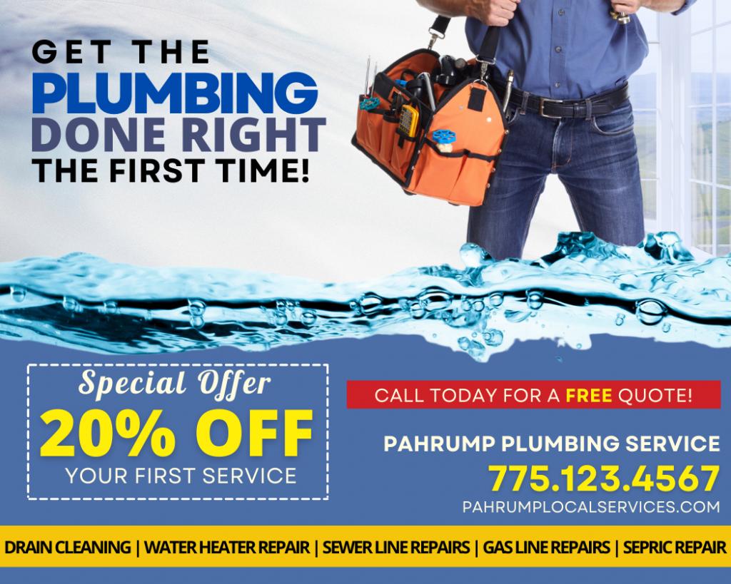 Pahrump Affordable Plumber- Pahrump Local Services